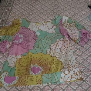 Silk pastel blouse